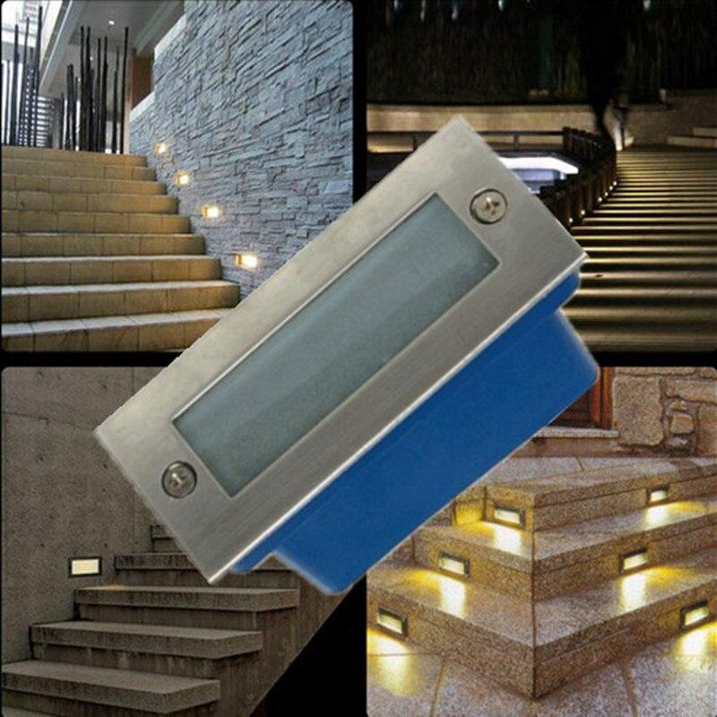 Outdoor led stair luce 3 W ha condotto la lampada da parete luce di notte, led Passo leggero, luce da incasso a pavimento, bianco caldo impermeabile spedizione gratuita