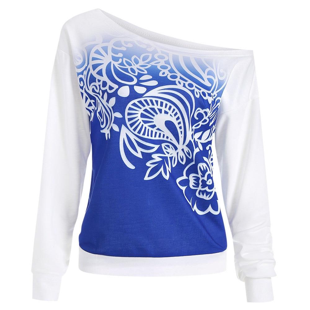 Women Casual Autumn Printed Long Sleeve Sweatshirt Blouse PH10 stranger things