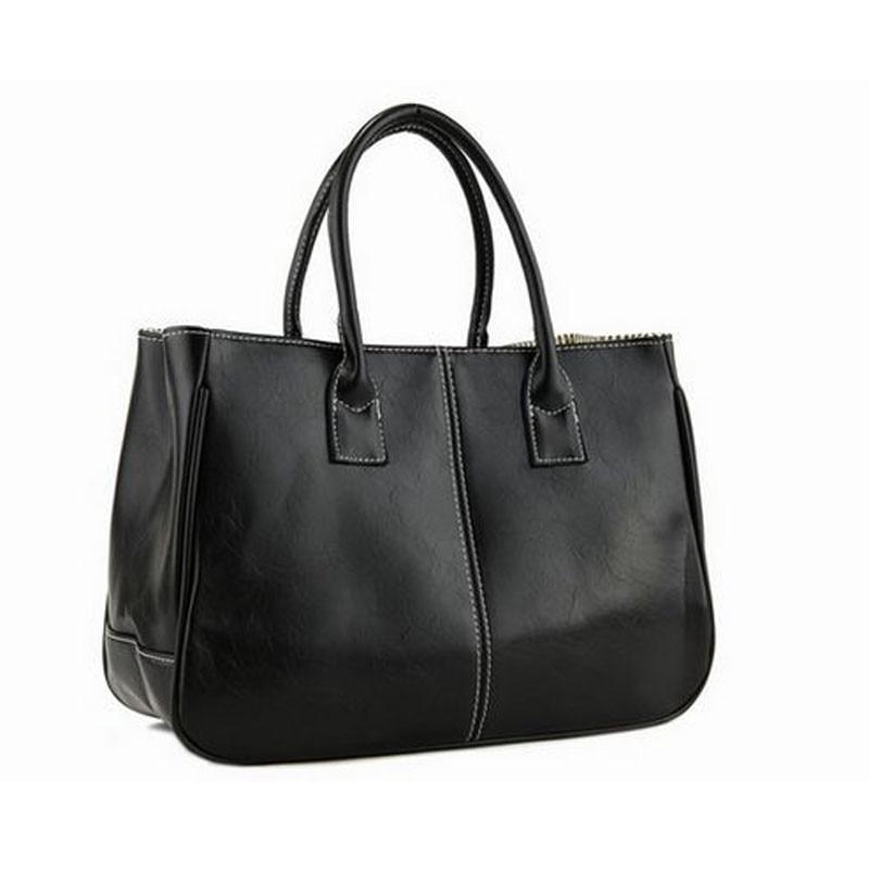 STSR Leather shoulder bag fashion ladies Messenger bag handbag 2019 women's Messenger bag ladies black 32CM*13CM*25CM 9