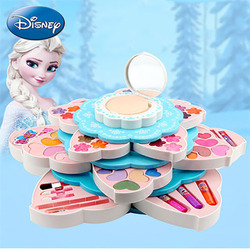 جديد ديزني المجمدة الطفل الأميرة زهرة ازدهار متعددة الوظائف الجمال مربع الفتيات لعب الأطفال ماكياج عيد ميلاد هدايا