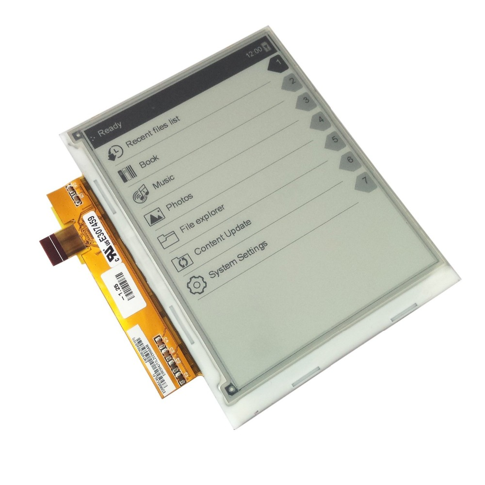 6inch LCD DISPLAY SCREEN FOR Texet TB-216 e-book free shipping