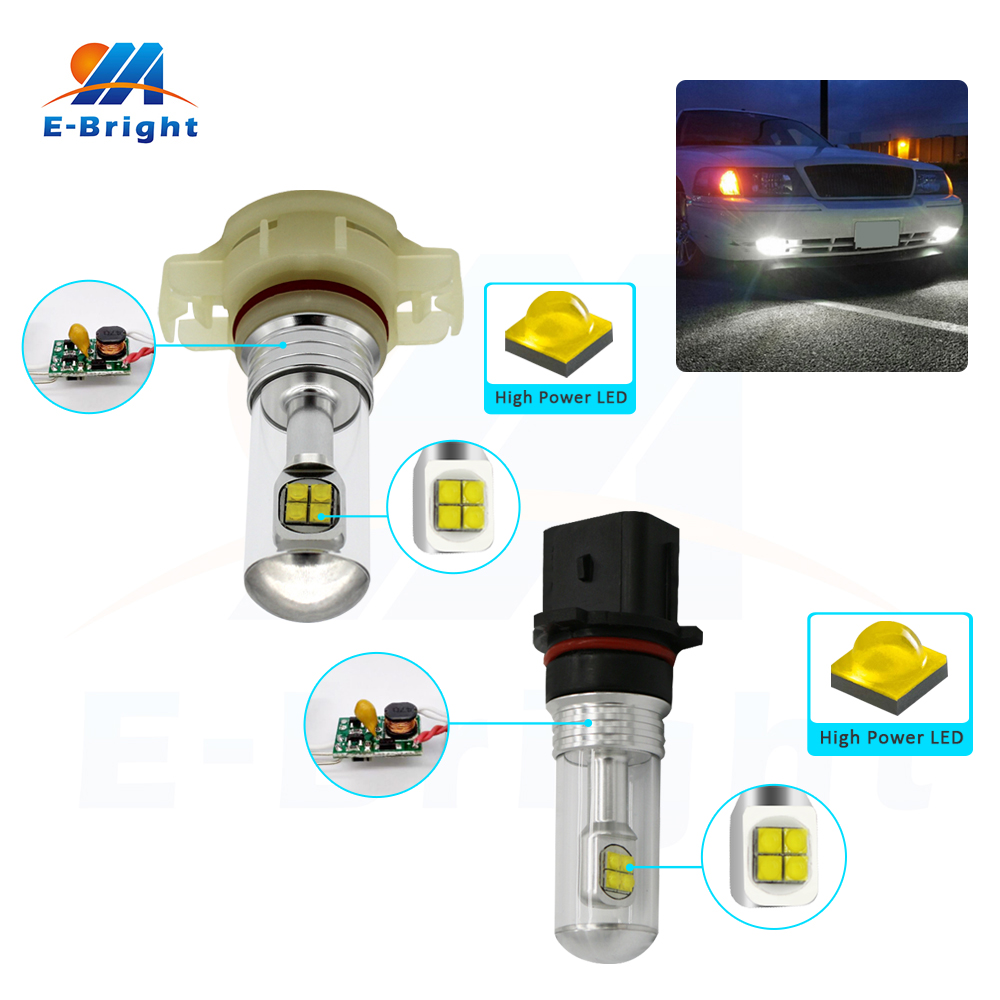 Useful 2pcs 12v 24v 2525 40w Constant /nonpolarity P13w H16 1200lm Xbd A18 Led Fog Light Bulbs Car Headlight 360 Degree 6500k White High Standard In Quality And Hygiene Car Lights