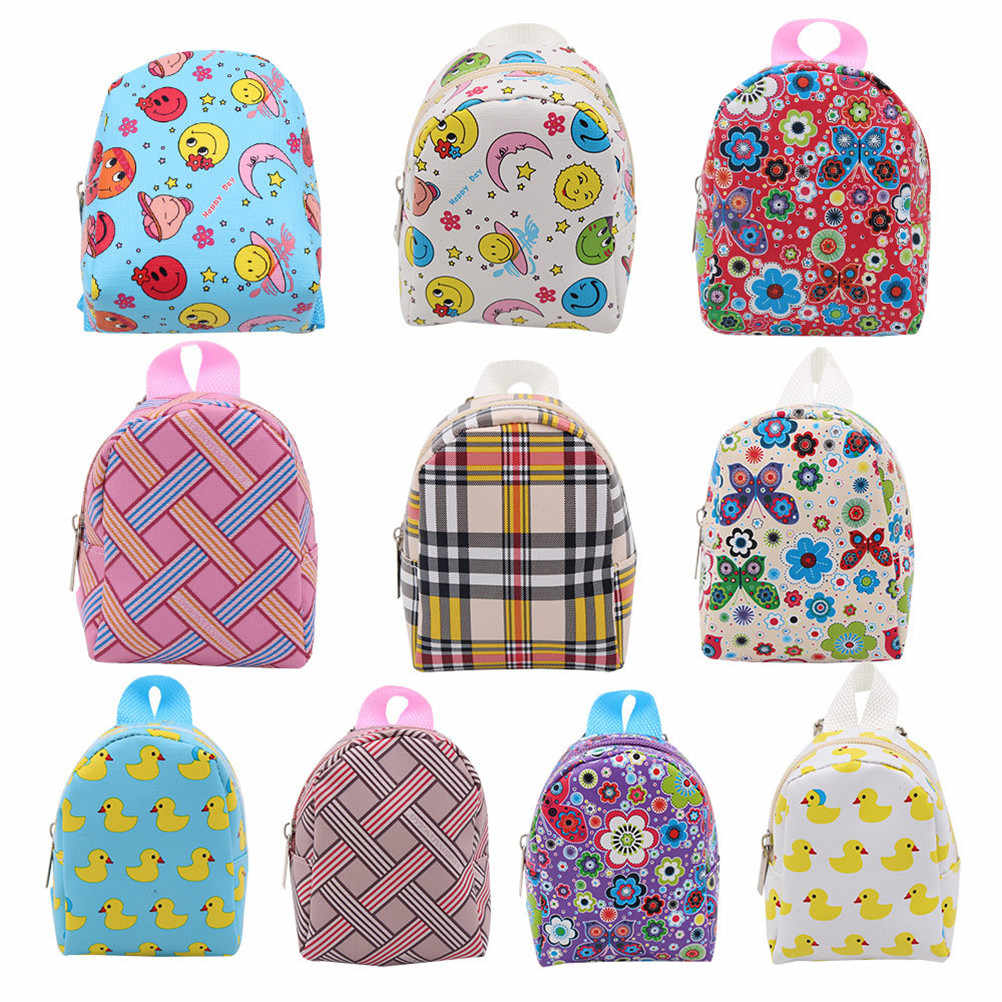 Mini Dolls Schoolbag Backpack Accessories For 18 Inch Dolls Outgoing Bag Dolls Accessories