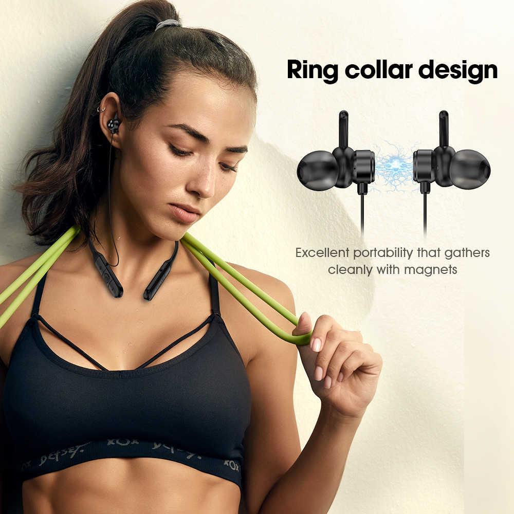 2019 oryginalny sylaba Q3 Bluetooth V4.2 słuchawki 6 godzin bezprzewodowy zestaw słuchawkowy Stereo magnetyczne douszne sylaba Q3 kontrolą głośności zestaw słuchawkowy
