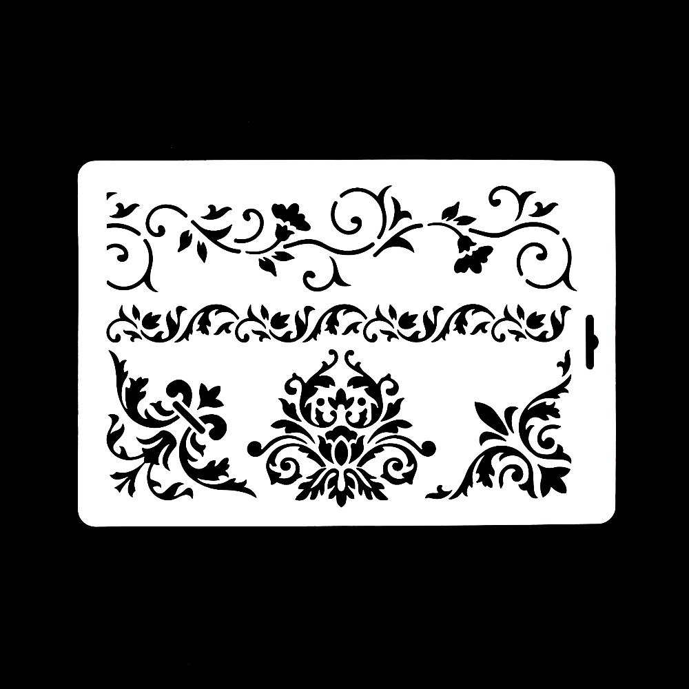 DIY Craft Vine Flower Layering Stencils For Walls Painting Scrapbooking Stamping Album Crafts Decorative Embossing