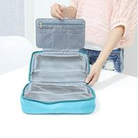 Portable Travel Luggage Partition Storage Bag For Clothes Underwear Packing Organizer Women S Nylon Mesh Zipper
