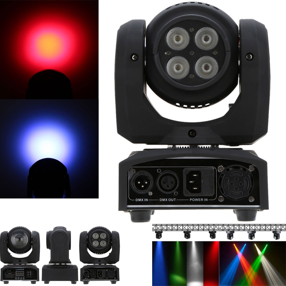 50W Beam Wash Double Sides RGBW LED Stage Effect Light 15/21 Channel DMX 512