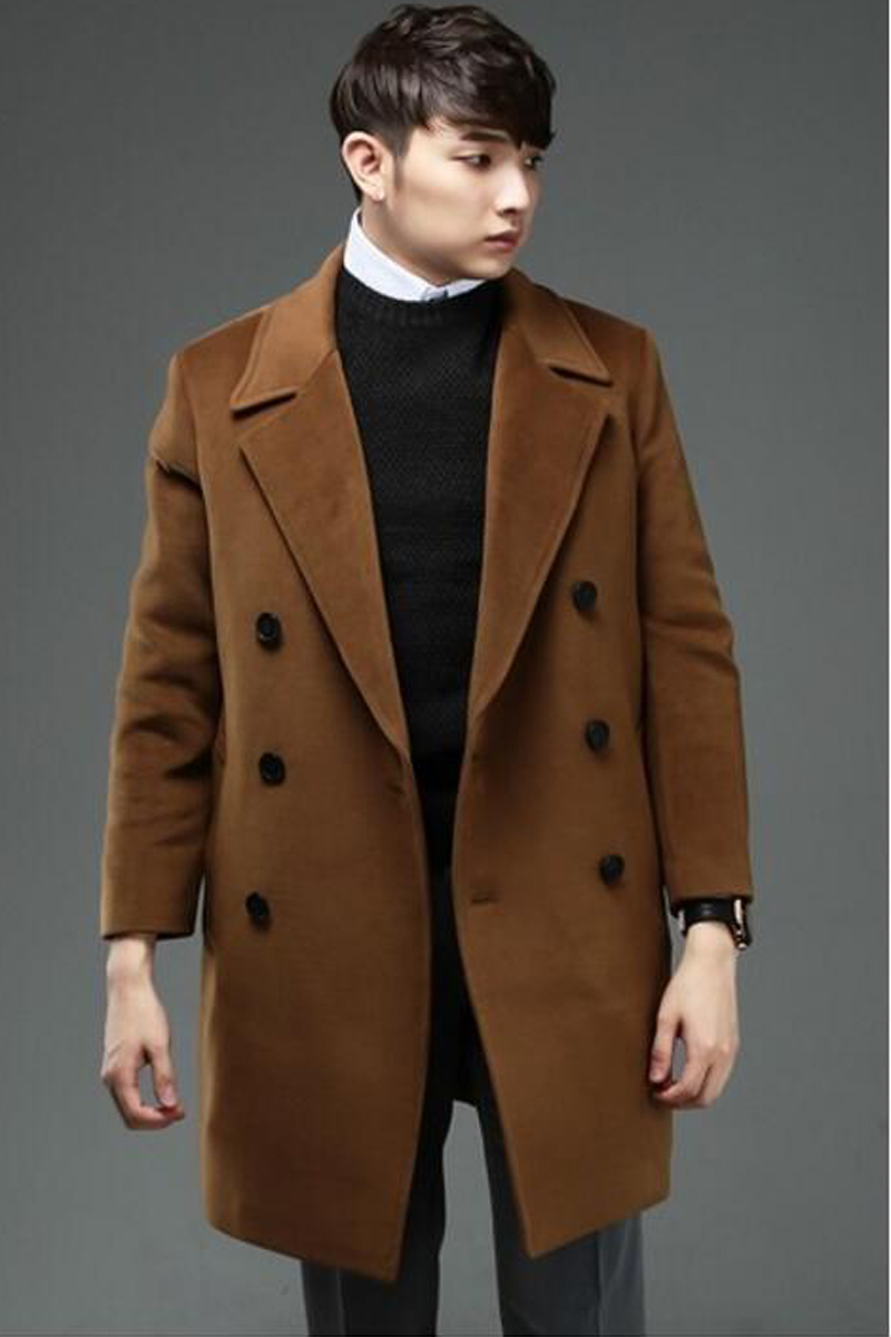 Plus size cashmere overcoat male 2016 loose double breasted woolen outerwear long-sleeve casual men overcoat wool coat ! 5XL 6XL