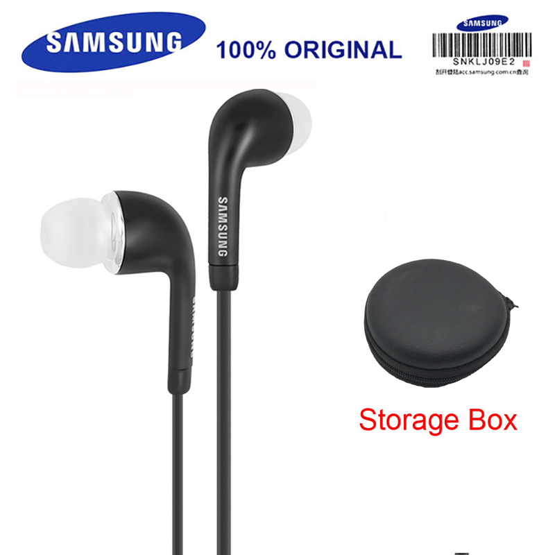 SAMSUNG Professional Earphones EHS64 Wired with Black Storage Box 3.5mm plug In-Ear Gaming Headsets for Galaxy S9 S9Plus lc ccy 3 5mm plug mini in ear wired earphones for iphone 5 black 120cm