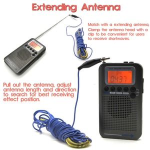 Image 5 - Full Band Stereo Receiver Portable CB/FM/AM/SW Radio with LCD Display Alarm Clock&Earphone