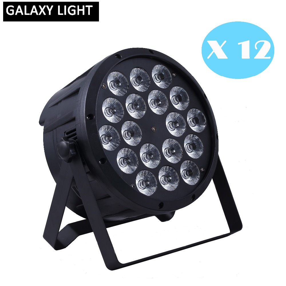 12Pcs/Lot 18x12W RGBW 4in1 led par light DMX Stage Lights Professional par led dj light disco light professional DJ equipment