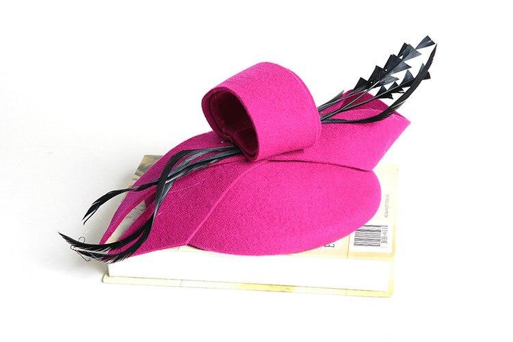 Women Wedding Hats Hair Accessories Fascinator Hat Autumn Winter Hollow Veil Wool Felt Women Fedoras Cocktail Formal Dress Hats 5