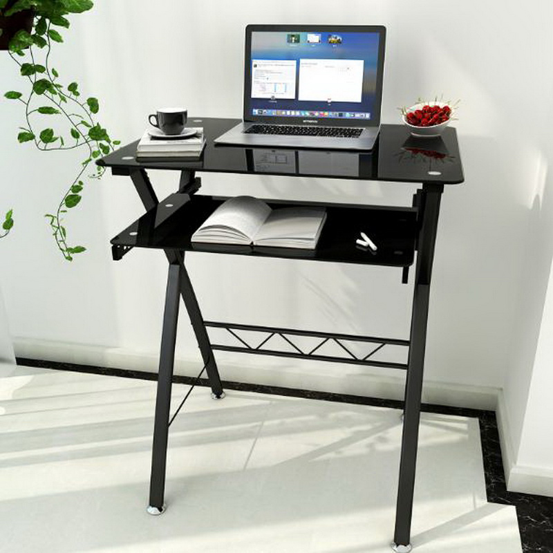 250634/60cm small apartment computer desk / home single desk / simple modern learning table/Double board design 250616 computer desk and desk style modern simple desk with bookcase desk simple table solder edge e1 grade sheet material
