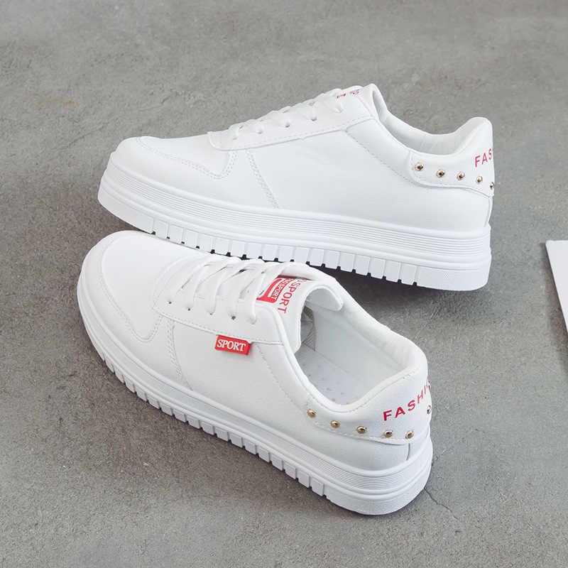 Fujin moda feminina primavera sapatos marca tênis dedo do pé redondo senhoras apartamentos feminino preto vermelho sapatos dapato feminino de alta qualidade
