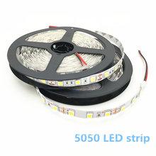 цена на 5M LED Strip 5050 RGB lights 12V Flexible Home Decoration Lighting SMD 5050 Waterproof LED Tape White/Warm White/Blue/Green/Red