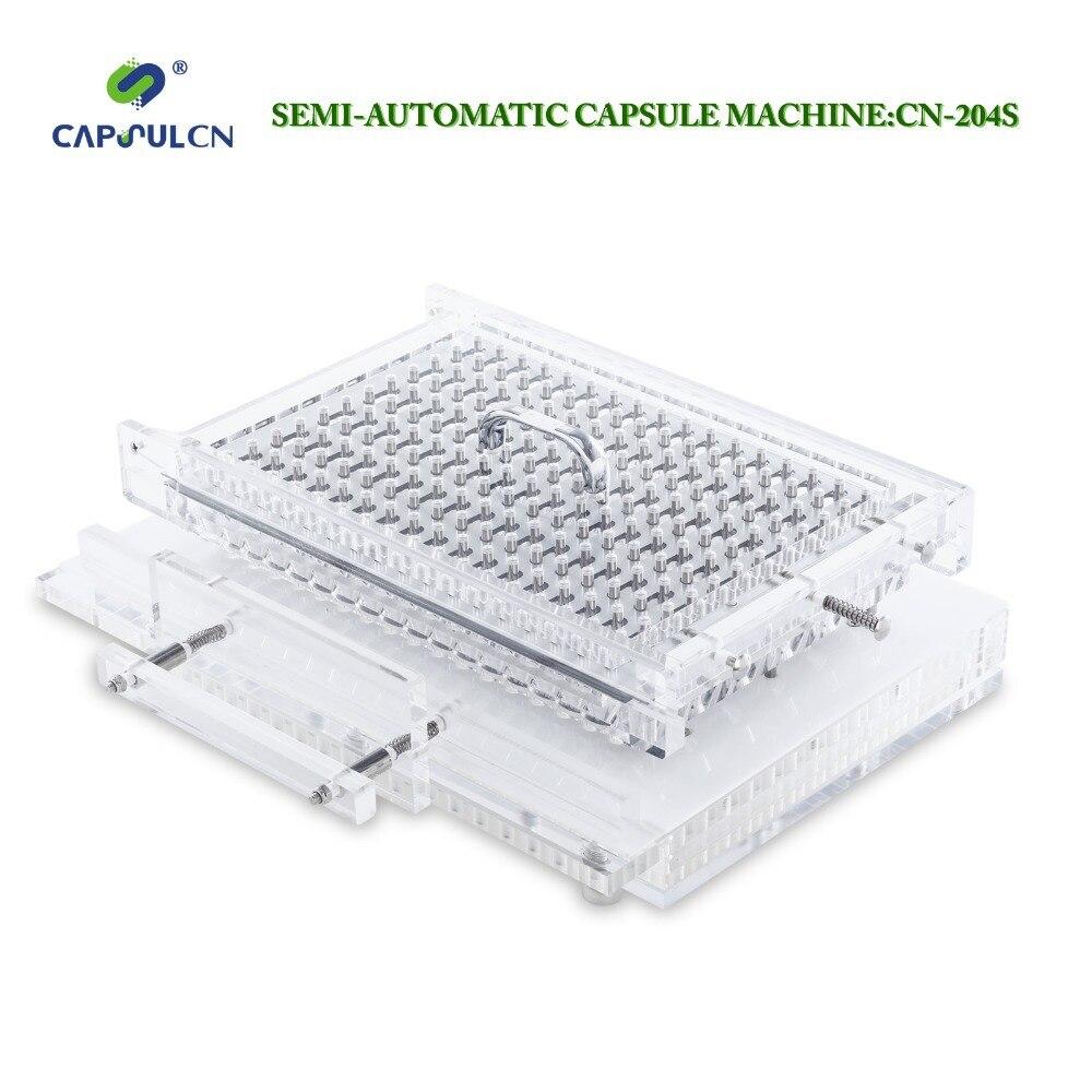 CapsulCN, 204 S/Tamanho 0 # Semi-automáticas de enchimento de cápsula/Encapsulador/Cápsula Máquina de Enchimento/Capper Cápsula/Encapsulante máquinas