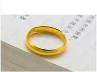 Authentic 999 Solid 24K Yellow Gold Ring Men's Smooth Ring Band 4.02g