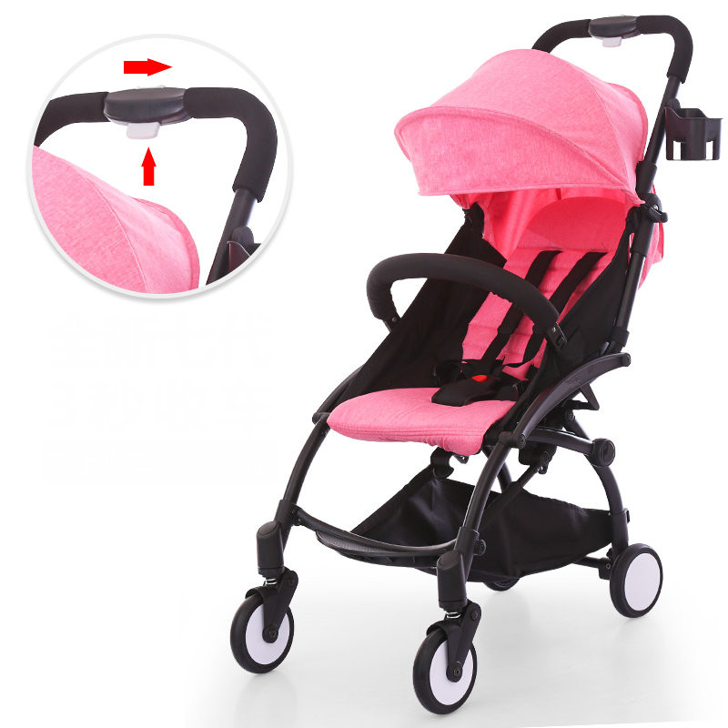 Fold baby stroller, one hand fold portable baby carriage, can sit and lie umbrella cart with travel bag, 5.8kg baby stroller