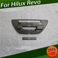 Car Accessories ABS BLACK Tail Gate Cover For Toyota Hilux SR5 Revo Rocco 2016 2019