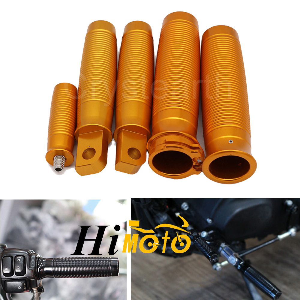 Aluminum Rough Crafts Motorcycle Handle Bar Hand Grips Footrests Foot Pegs Shifter For 2004 2015 Harley Sportster XL883 XL1200