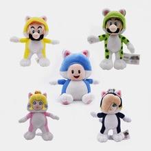 5 Styles Anime Super Mario Bros Cat Luigi Toad Peach Rosalina Peluche Doll Plush Soft Stuffed Toy Christmas Gift