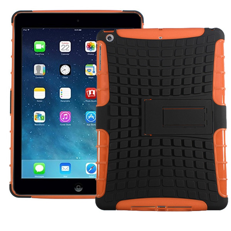 Rugged TPU Rubberized Hard Case Cover Stand Protector For iPad Air 1 High Quality For iPad 5 Cover Case New Tablet 9.7inch Case tpu case cover for ipad air