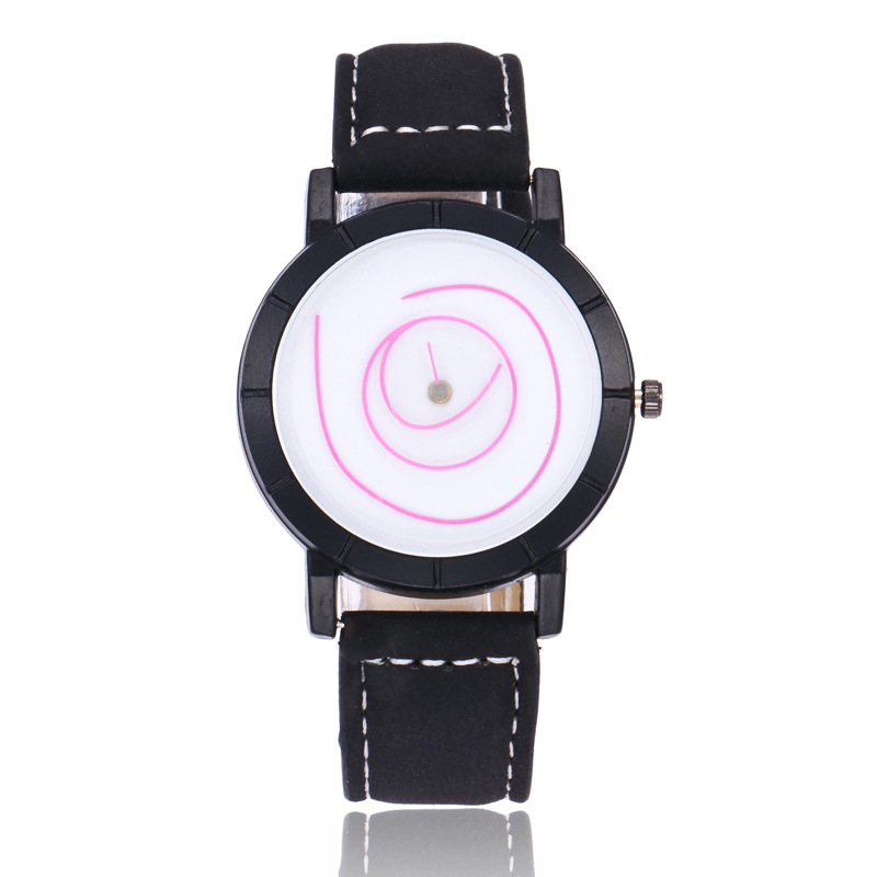 MINHIN New Fashion Student Watches 9 Colors Swirl Graffiti Creative Women Leather Wrist Watches School Relogio Femme
