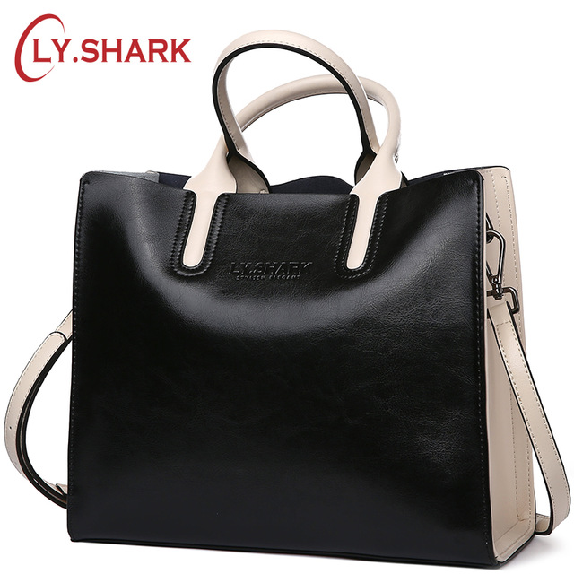 LY.SHARK Genuine Leather Women Handbag Tote Bag Shoulder Messenger Bags Luxury Handbags Women Bags Designer Purses And Handbags