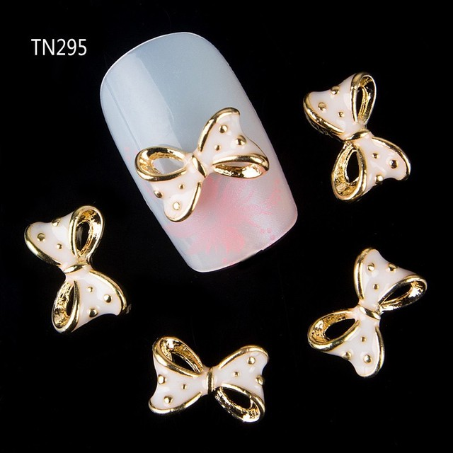10 in a Pack Cute Bow Nail Art Decoration