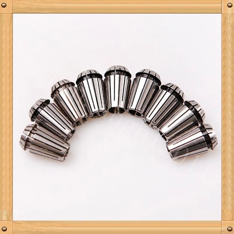Herramienta de fijación de collar ER16 endurecido de precisión 9X (2 mm-10 mm) 65 acero de alto manganeso