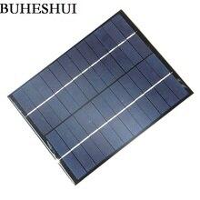 BUHESHUI 5W 12V Solar Cell Solar Panel Module Polycrystalline DIY Solar Panel System Green Power 210