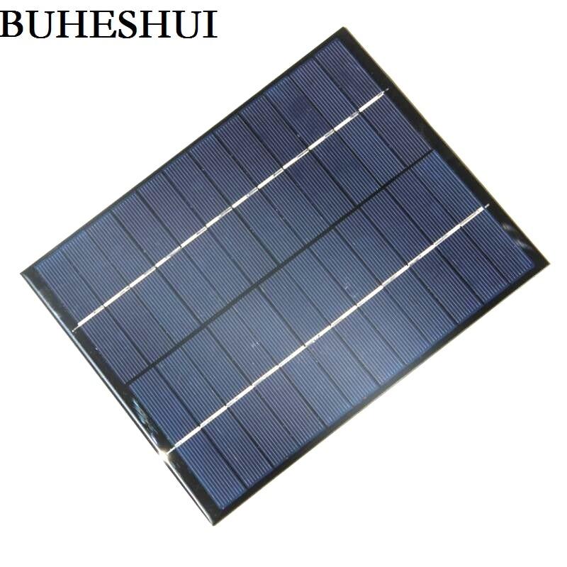 BUHESHUI 5W 12V Solar Cell Solar Panel Module Polycrystalline DIY Solar Panel System Green Power 210*165*3MM Epoxy High Quality