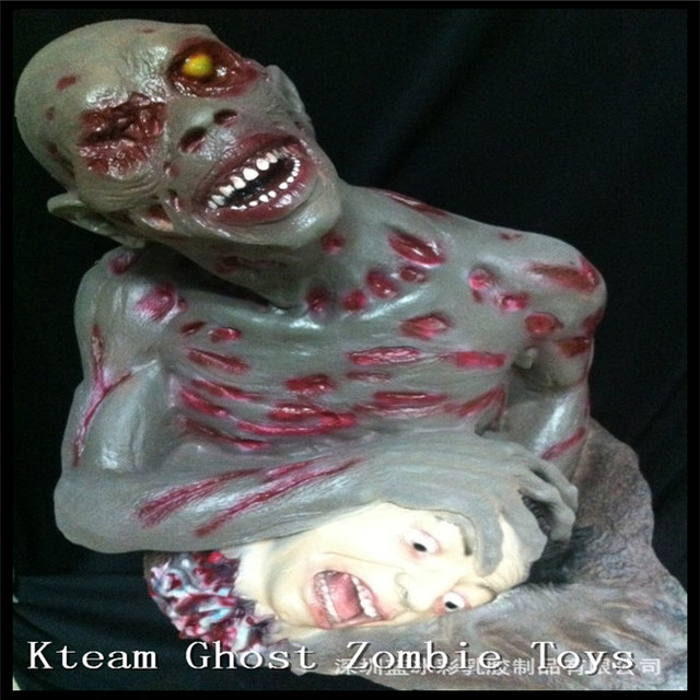 super horror halloween decorations horrible body zombie halloween scary prop hanging head ghost novelty toy haunted