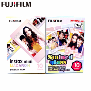 Image 1 - 20 Sheets Fujifilm Fuji Instax Mini 8 New Macaron+Stained glass Film For 11 7 8 9 50s 7s 90 25 Share SP 1 SP 2 Instant Cameras