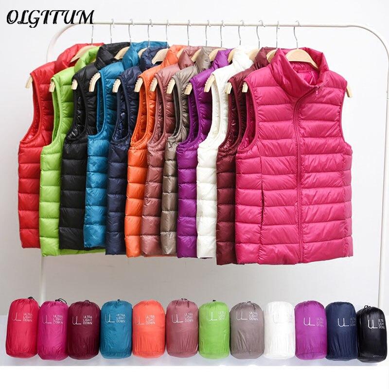 S-4XL 2019 automne/hiver nouvelle veste légère gilet coréen femmes vêtements gilet manteau grande taille vers le bas gilet Liner sauvage 12 couleurs