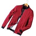 2016 Otoño Invierno de Los Hombres de la Chaqueta Cortavientos Marca de Lujo Capa de la Chaqueta rojo Soporte Bombardero Homme Hombres Chaquetas Y Abrigo de Más Tamaño 50