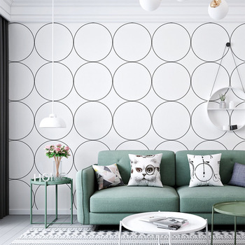 Metallic Geometric Wallpaper For Walls Roll Modern Design Wall Paper Home Decor Bedroom Living Room Hallway Wall Coverings Blue