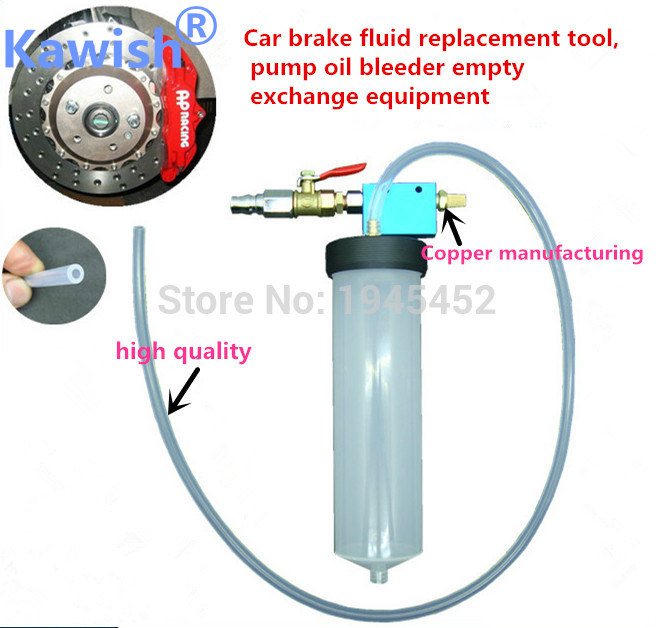 Big sale!!Kawish Auto Car Brake Fluid Oil Change Replacement Tool Pump Oil Bleeder Empty Exchange Drained Kit Equipment Tool car vehicle brake fluid replacement tool pump oil bleeder empty exchange equipment
