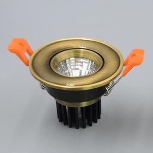 Image 2 - אירופאי COB Downlight 3 W/5 W/9 W/15 W AC85 265V Dimmable Downlight מנורה שקוע תאורה מקורה תאורה