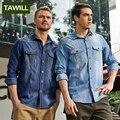 Tawill marca clothing camisa dos homens camisa de manga longa denim homens da moda primavera 2017 de alta qualidade plus size 4xl 5xl 6xl 68033