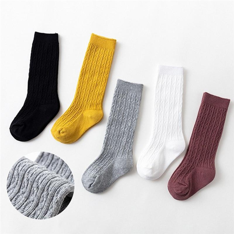 New Kids Socks Toddlers Girls Knee High Long Soft Cotton Socks Baby Socks Kids Kniekousen Meisje Dropshipping