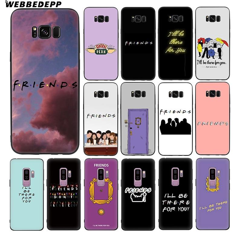 WEBBEDEPP Friends TV Shows 10 Soft TPU Silicone Case for Samsung Galaxy S10 S10e S9 S8 Plus S7 S6 Edge & J6