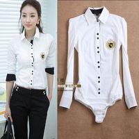 Blusas de senhora OL blusas LT39 corpo branco de mulheres colar XS-XL