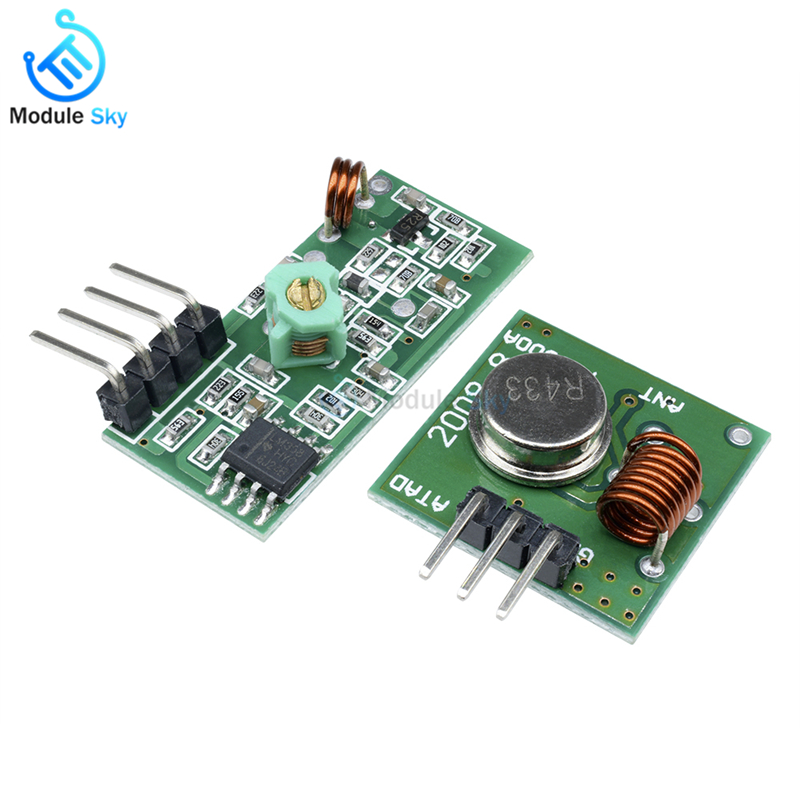 ▻1Lot= 1 pair (2pcs) 433Mhz RF transmitter and receiver