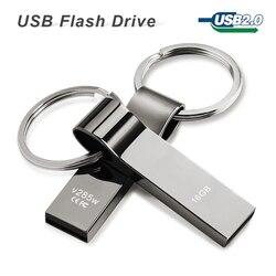 Usb flash drive 64gb 32gb 16gb 8gb 4gb pen drive pendrive waterproof metal silver with key.jpg 250x250