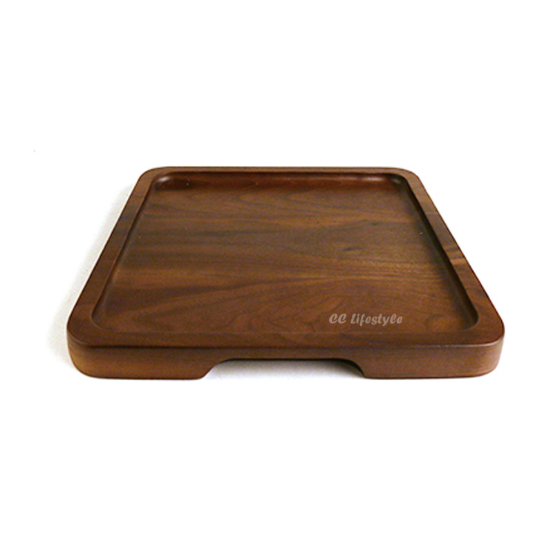 1pc Black Walnut Tea tray Square cake tray Wooden Tableware Handle Dessert Tray  Kitchen Tableware акустика центрального канала paradigm prestige 45c black walnut