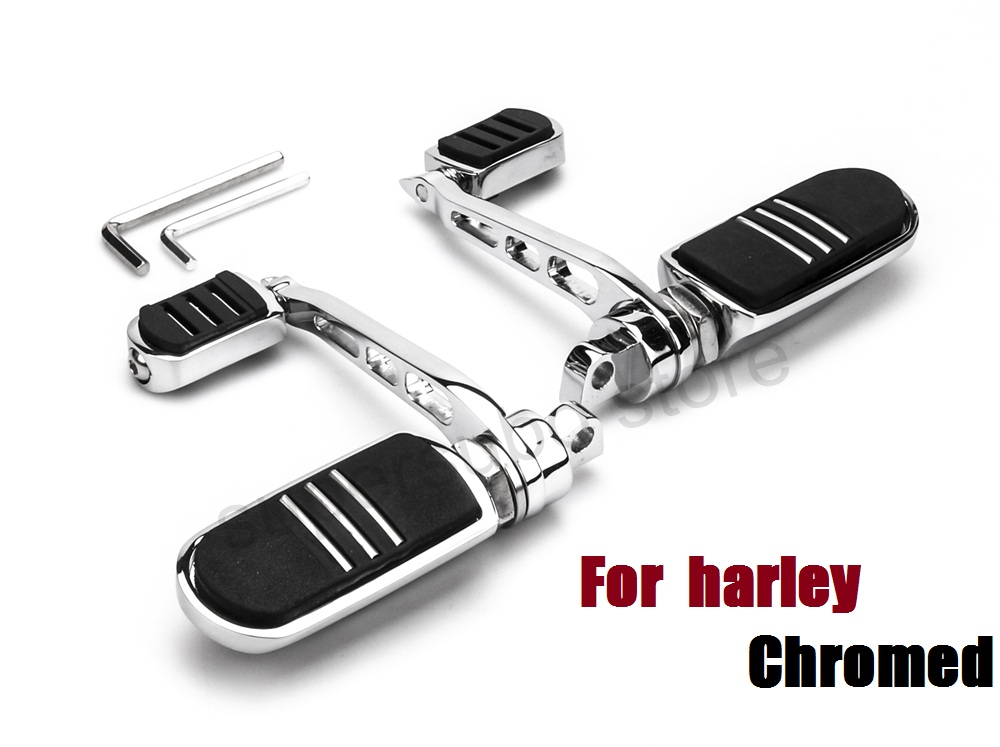 Motorcycle pegs Anti-Vibe Streamline Footrest harley dyna footpegs with Heel Rest pegs For Harley softail FXDF FAT BOB FXDC FXDX