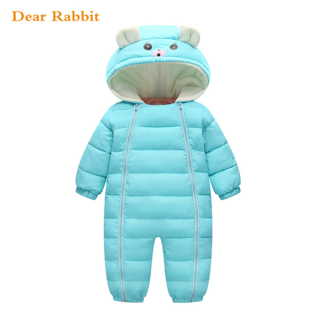 798925659 2018 Winter Baby Snow Wear Thick Warm Girl Clothes Newborns ...