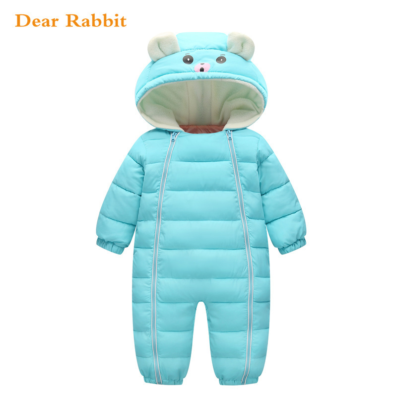 2019 Winter Baby Snow Wear Thick Warm Girl Clothes Newborns Polyester Material Kids Infants Hooded Outwear Boys Clothing romper2019 Winter Baby Snow Wear Thick Warm Girl Clothes Newborns Polyester Material Kids Infants Hooded Outwear Boys Clothing romper
