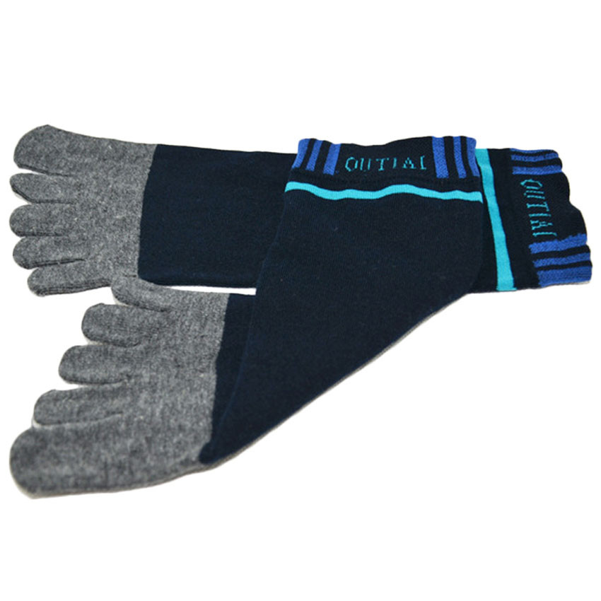 1 Pair Men Ventilation Socks Combed Cotton Meias Sports Five Finger Short Socks Toe Socks